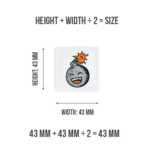 Woven Label Size