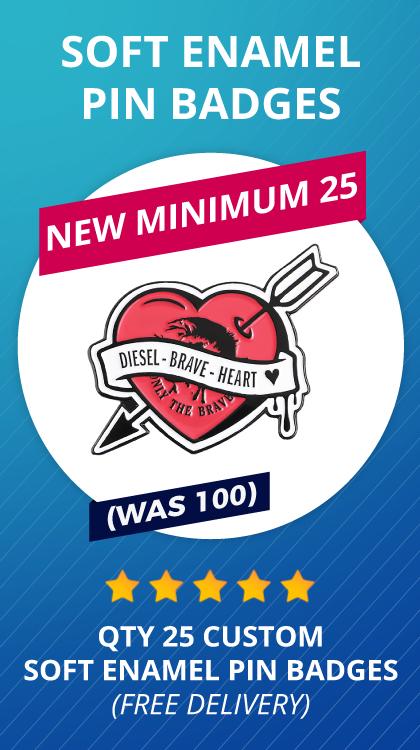 25 CUSTOM Soft Enamel Pin Badges
