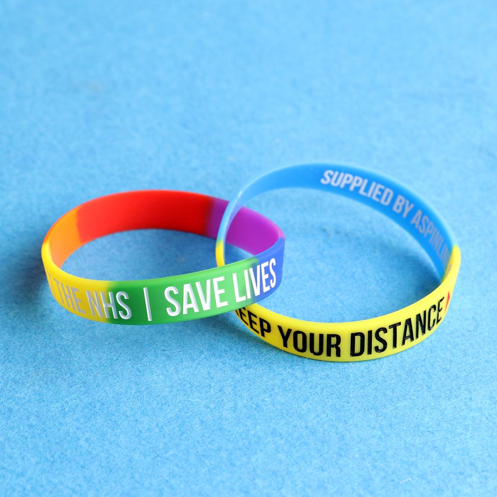 Covid 19 support wristbands